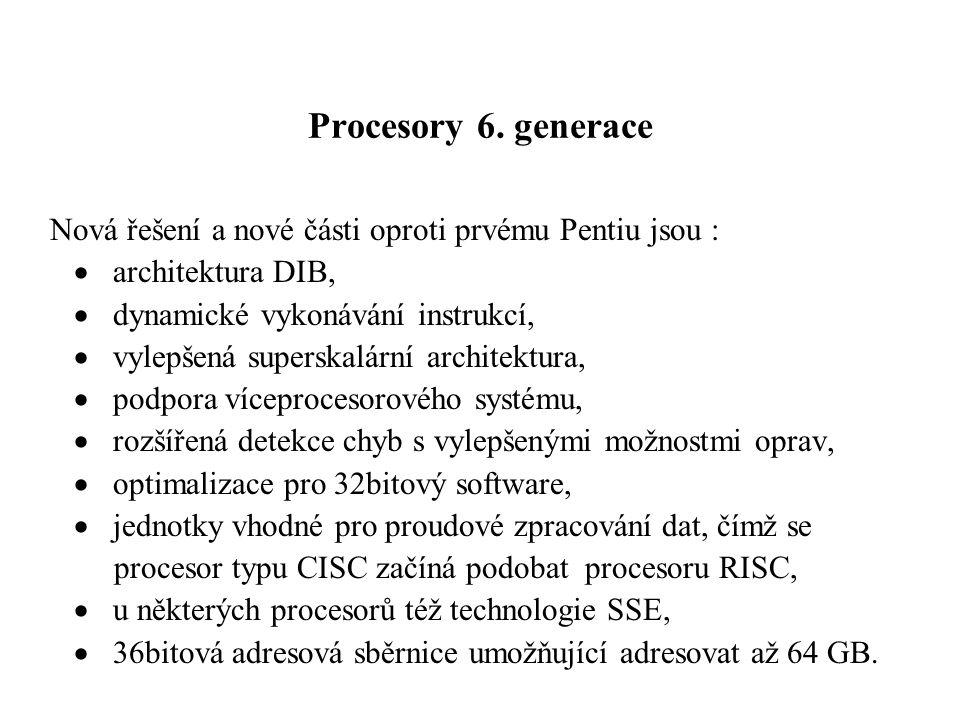 Procesory 6.