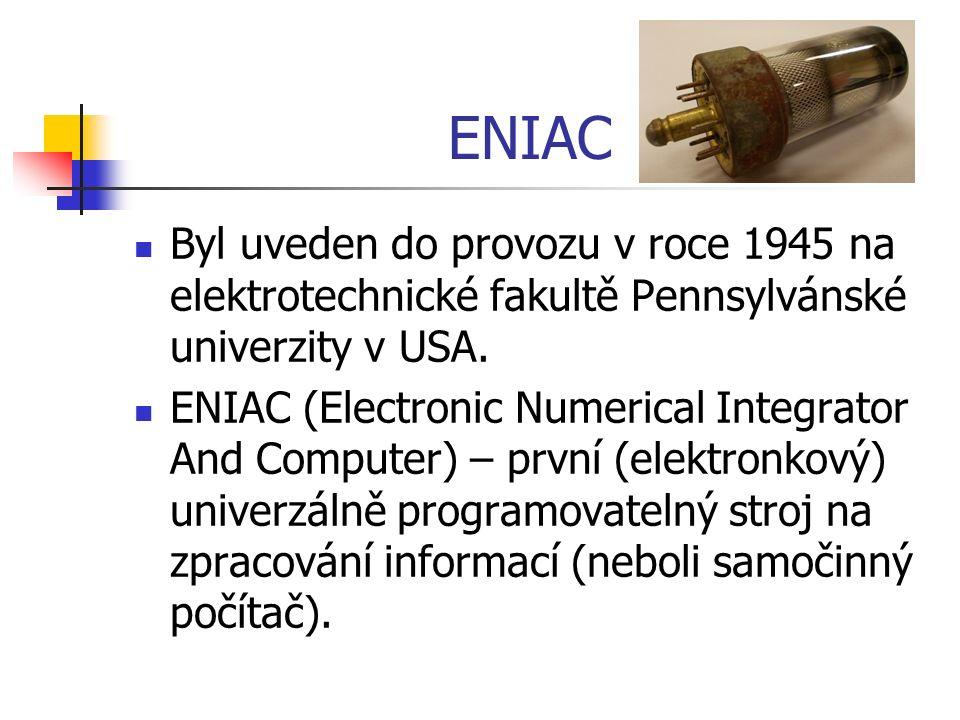 Zdroje: Fotografie z archivu autora.http://cs.wikipedia.org/wiki/ENIAC.