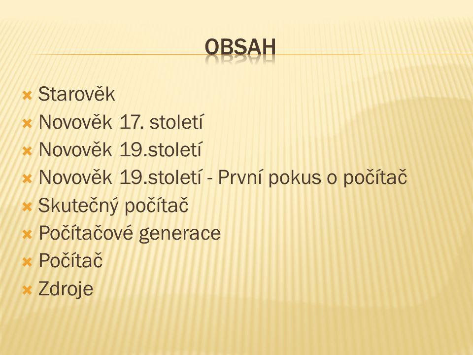  Starověk  Novověk 17.