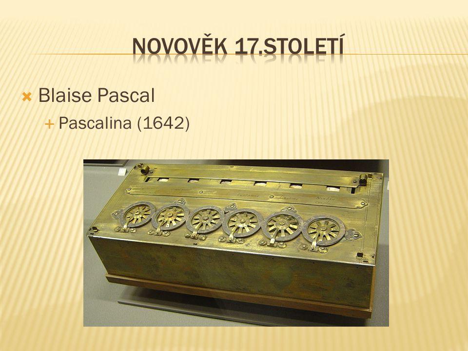  Blaise Pascal  Pascalina (1642)
