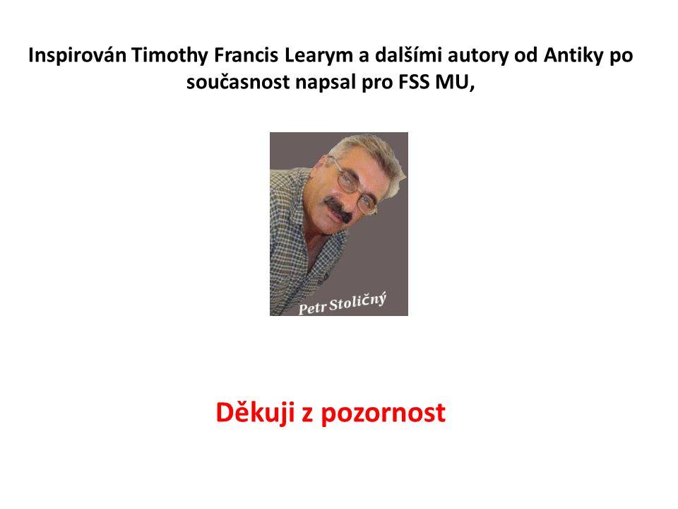 Inspirován Timothy Francis Learym a dalšími autory od Antiky po současnost napsal pro FSS MU, Děkuji z pozornost