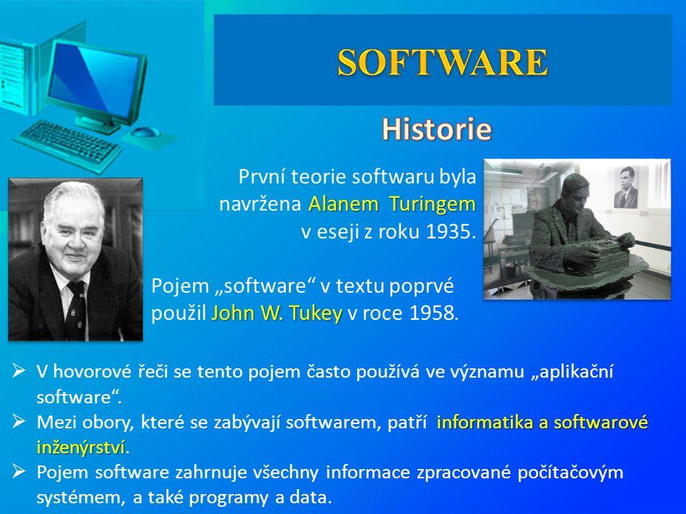 """ V hovorové řeči se tento pojem často používá ve významu """"aplikační software ."""