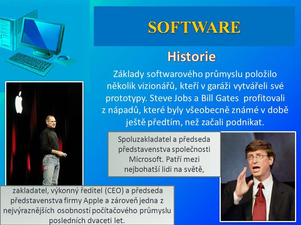 Základy softwarového průmyslu položilo několik vizionářů, kteří v garáži vytvářeli své prototypy.