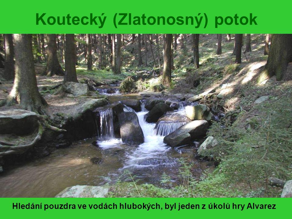 LOVENÍ MĚSÍČNÍHO KAMENE Úkolem bylo vynést kámen bez použití břehů potoka Prófa, Valda a na větvi Šmudla