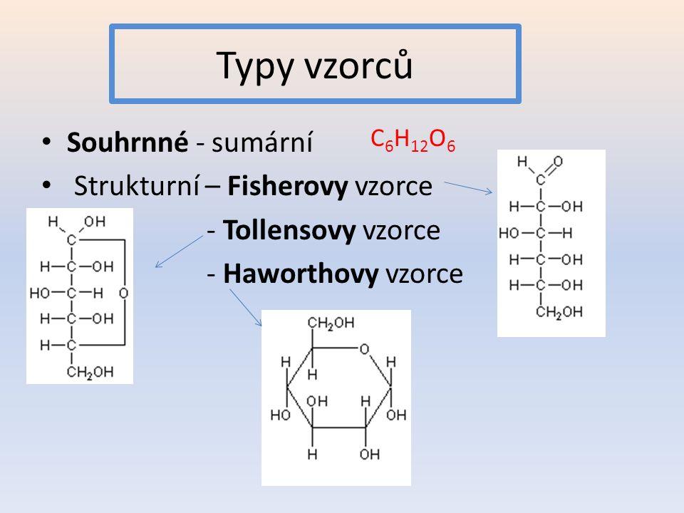 Poloacetalová vazba sacharidů 1 2 3 4 5 6 1 2 3 4 5 6 Poloacetalová vazba mezi karbonylovou skupinou a OH skupinou na nejvzdálenějším asymetrickémuhlíku – o jeden asymetrický uhlík navíc než v acyklickém vzorci – vznik anomerů α a β.