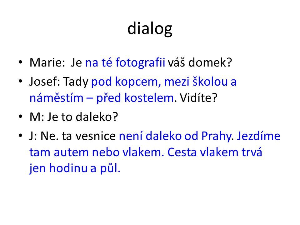 dialog Marie: Je na té fotografii váš domek.