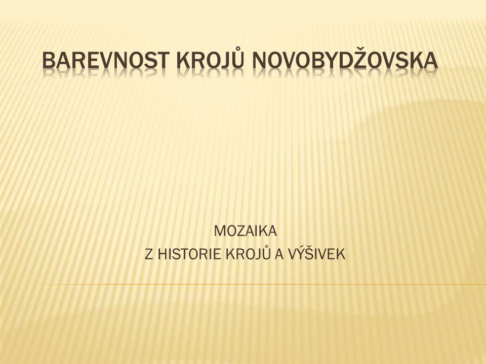 Novobydžovsko patřilo podle výzdobných prvků kroje do přechodné oblasti mezi Polabím a Podkrkonoším.