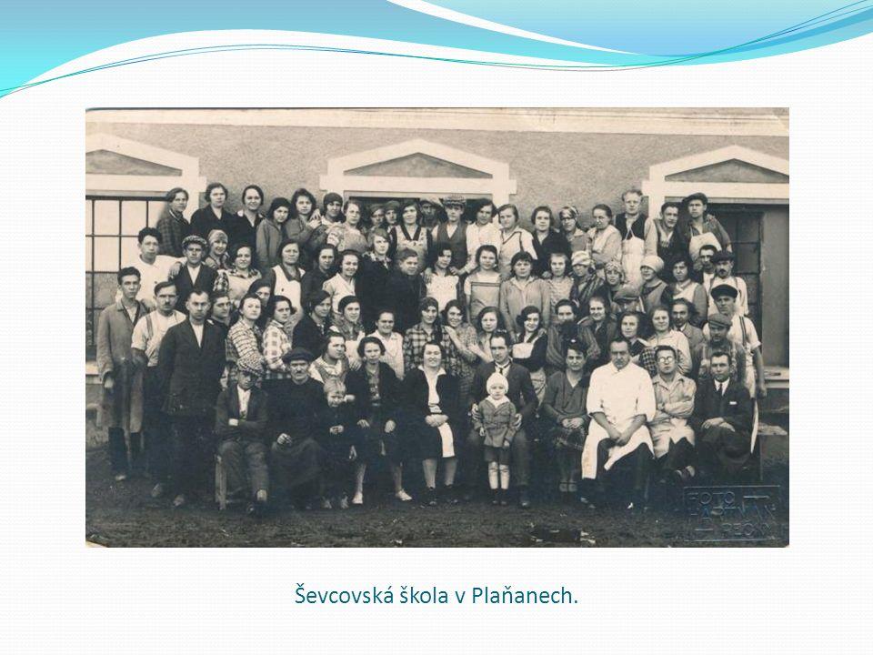 Ševcovská škola v Plaňanech.