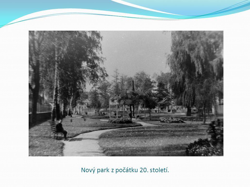 Nový park z počátku 20. století.