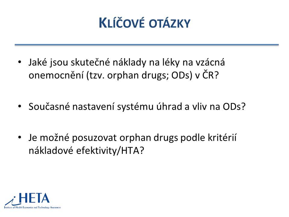 K LÍČOVÉ OTÁZKY Jaké jsou skutečné náklady na léky na vzácná onemocnění (tzv.