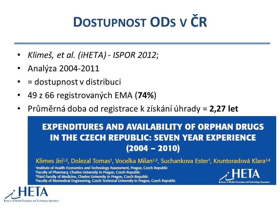 D OSTUPNOST OD S V ČR Klimeš, et al.