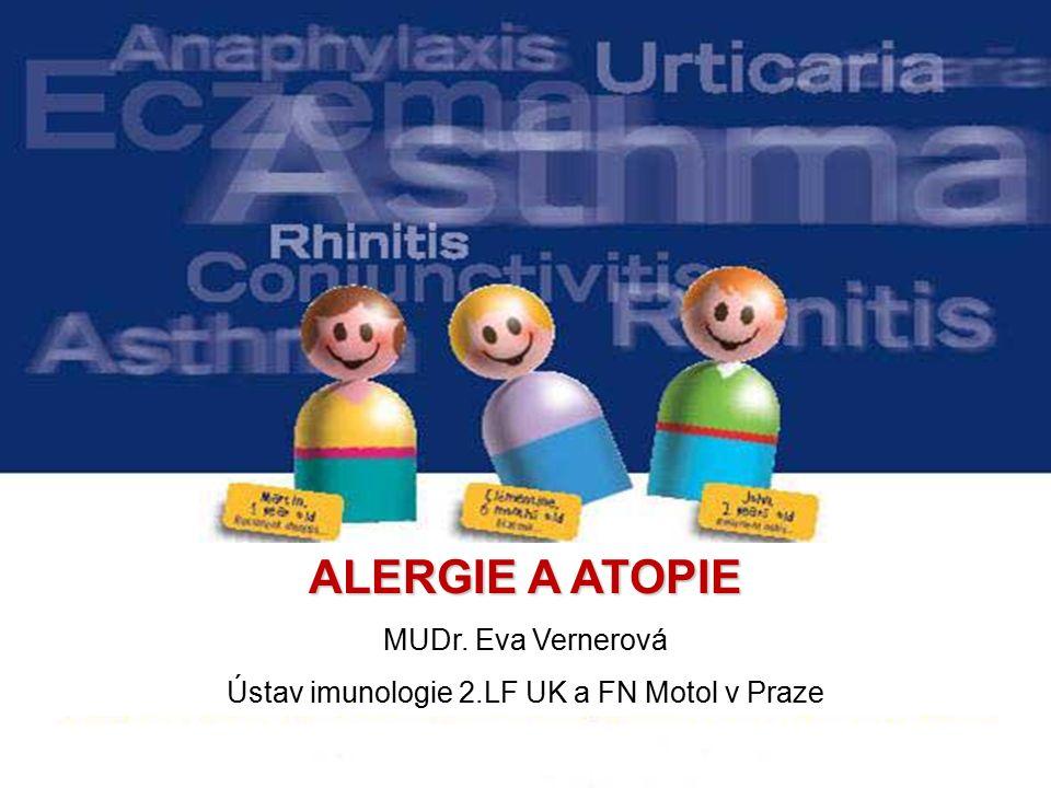 ALERGIE A ATOPIE MUDr. Eva Vernerová Ústav imunologie 2.LF UK a FN Motol v Praze