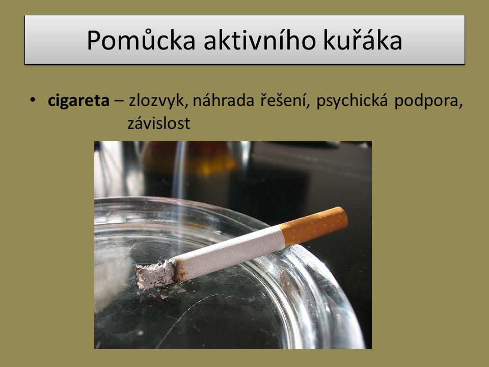 Pomůcka aktivního kuřáka cigareta – zlozvyk, náhrada řešení, psychická podpora, závislost