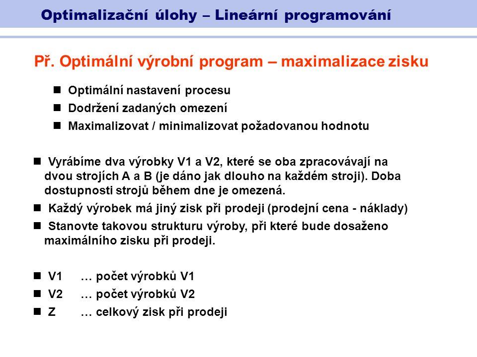 Optimalizační úlohy – Lineární programování Př.