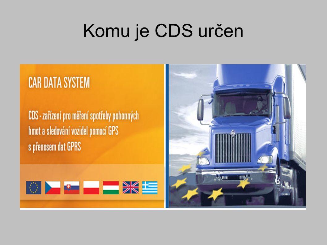 CDS Unikátní vlastnosti našeho systému CDS - Car Data System pro měření spotřeby paliva a pro online sledování vozidel pomocí GPS přinesou řadu výhod i usnadnění při provozování motorových vozidel a zprůhlednění nákladů na provoz vozového parku ve všech oblastech dopravy a přepravy.