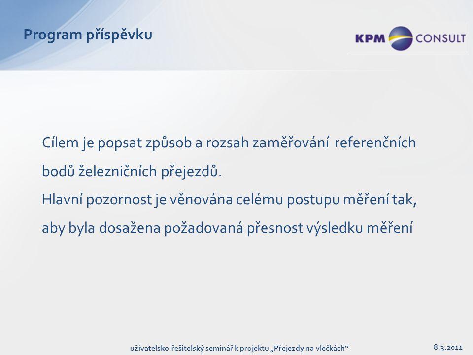 """Archivace 8.3.2011 uživatelsko-řešitelský seminář k projektu """"Přejezdy na vlečkách"""