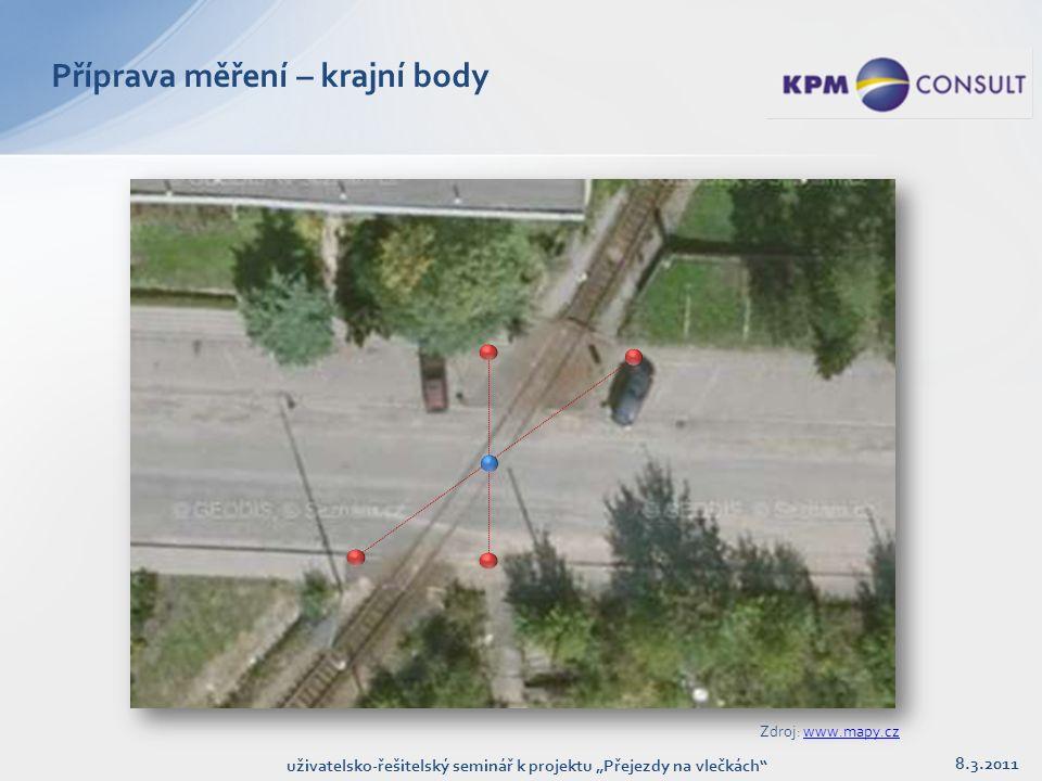"""Příprava měření 8.3.2011 uživatelsko-řešitelský seminář k projektu """"Přejezdy na vlečkách"""