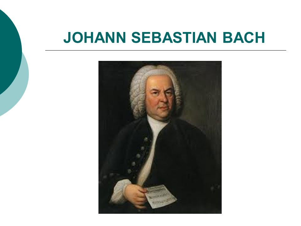 Johann Sebastian Bach (1685–1750) Bachův rukopis