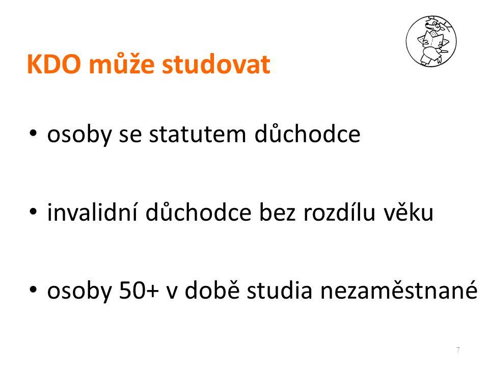 Student je účastníkem CŽV PEF ČZU v Praze po vyplnění přihlášky obdrží svůj login a heslo po 1.
