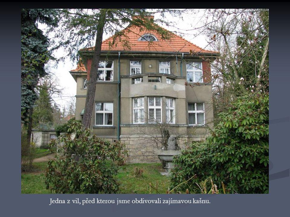 Vila Mathilde – je zde stále mateřská škola.