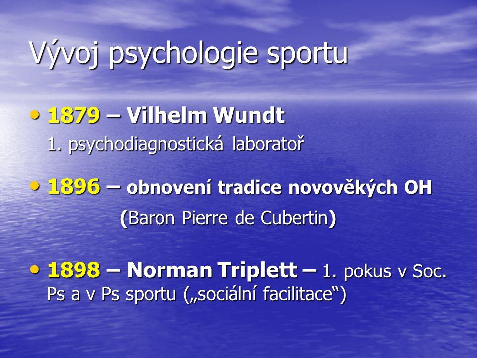 Vývoj psychologie sportu 1879 – Vilhelm Wundt 1879 – Vilhelm Wundt 1.