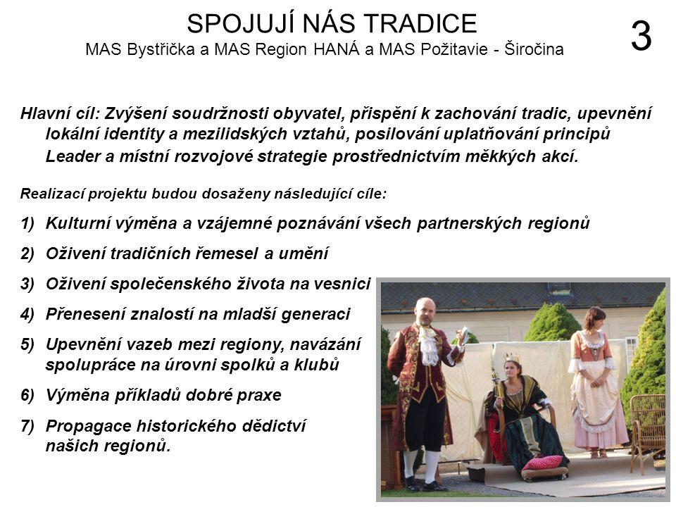 Hlavní cíl: Zvýšení soudržnosti obyvatel, přispění k zachování tradic, upevnění lokální identity a mezilidských vztahů, posilování uplatňování principů Leader a místní rozvojové strategie prostřednictvím měkkých akcí.