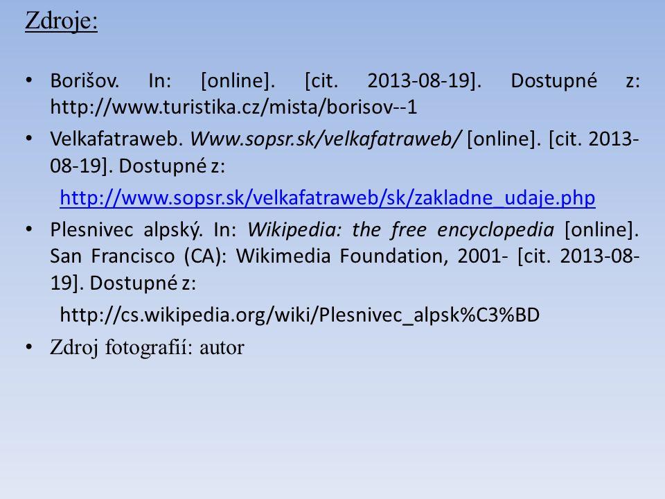 Zdroje: Borišov. In: [online]. [cit. 2013-08-19].