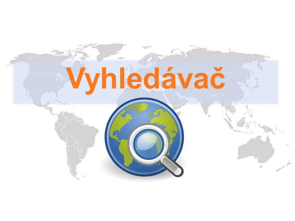 Internetový vyhledávač je služba, která umožňuje na Internetu najít požadované informace.