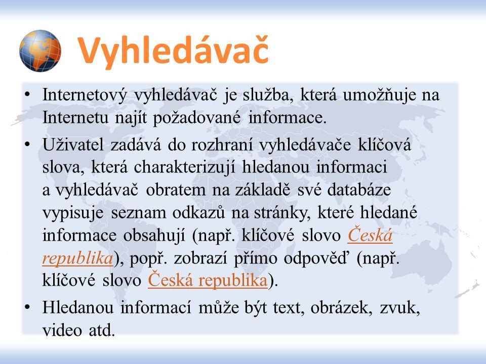 Jak správně hledat? Volba země Volba jazyka Česky a v ČR