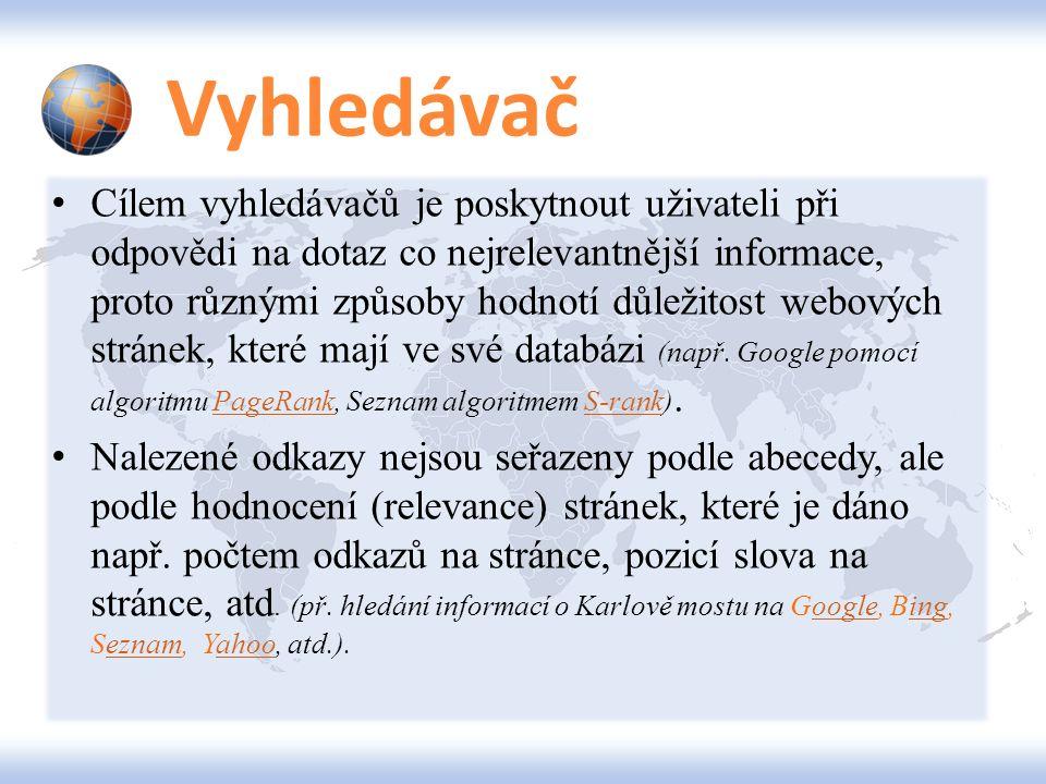 GOOGLE Služby Všechny služby Googlu naleznete zde.zde