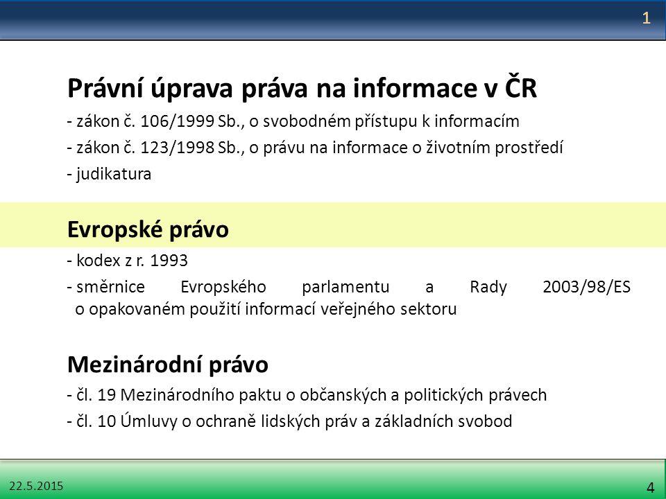 22.5.2015 5 Ústavní základy práva na informace Čl.