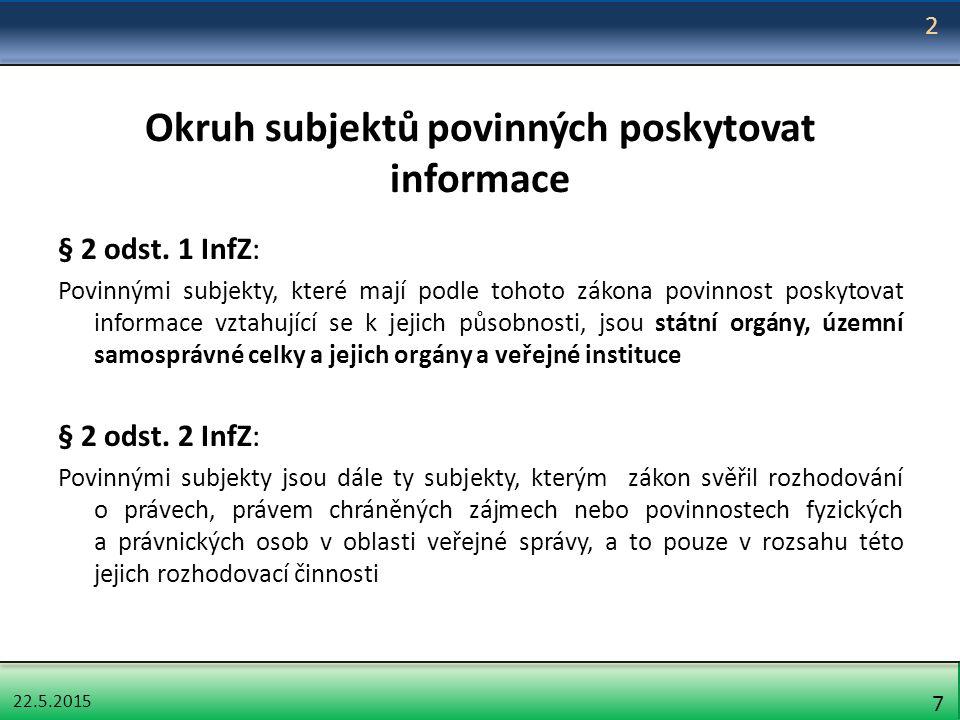 22.5.2015 68 Stížnost na postup povinného subjektu při vyřizování žádosti § 16a odst.