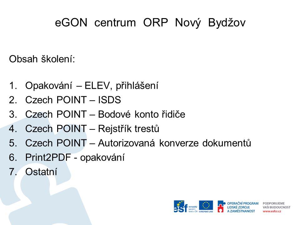 Czech POINT – Rejstřík trestů Další postup je stejný jako u jiných výpisů.