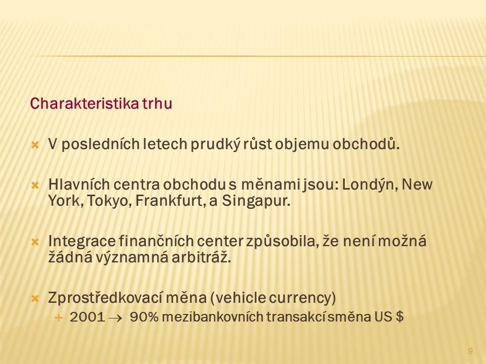 Rovnovážný směnný kurz  Směnný kurz se vždy přizpůsobí, aby zachovával úrokovou paritu.