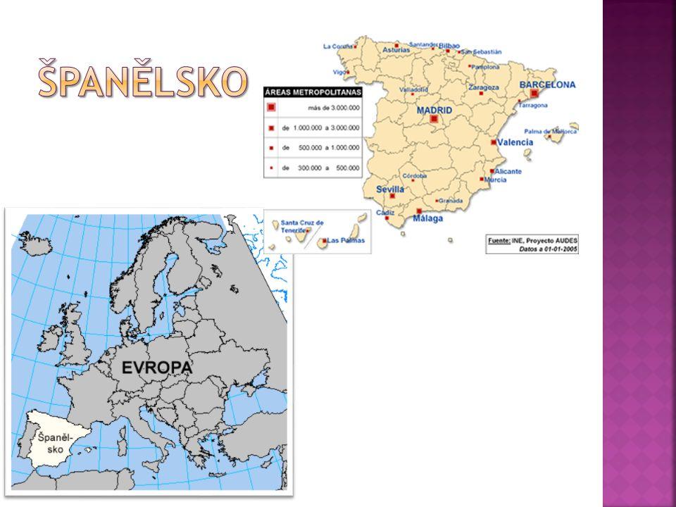 Oficiální název: Španělské království Hlavní město: Madrid Rozloha: 504 782 km² Počet obyvatel: 46 milionů