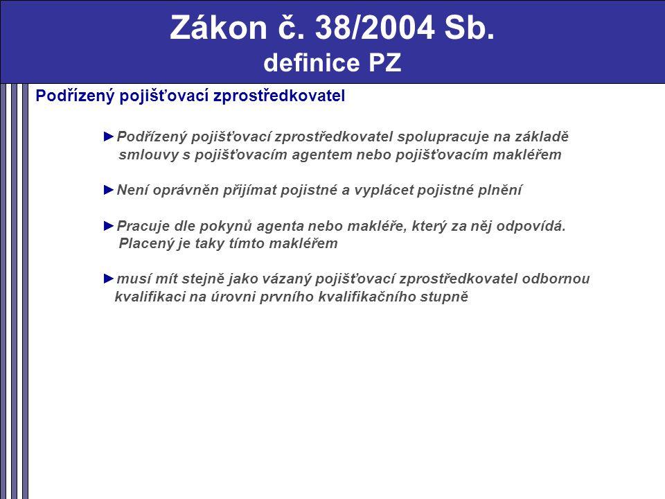 Zákon č. 38/2004 Sb.