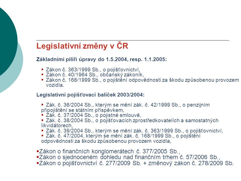 VODNÍ BOHATSTVÍ ČESKÉ REPUBLIKY Legislativní změny v ČR Základními pilíři úpravy do 1.5.2004, resp.