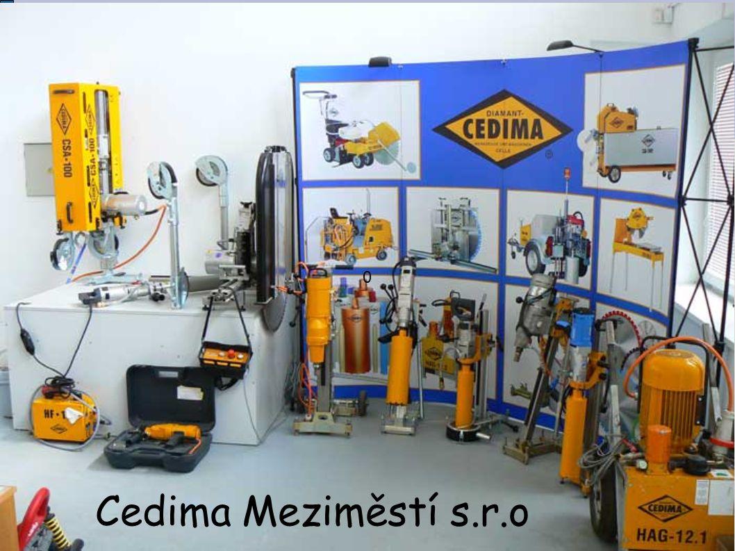 Charakteristika Firma vznikla v roce 2005 Firma se zaměřuje především na výrobu řezacích a vrtacích strojů Spolupracuje s různými společnostmi, v ČR i v celé Evropě
