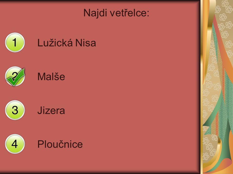 Najdi vetřelce: Lužická Nisa Malše Jizera Ploučnice