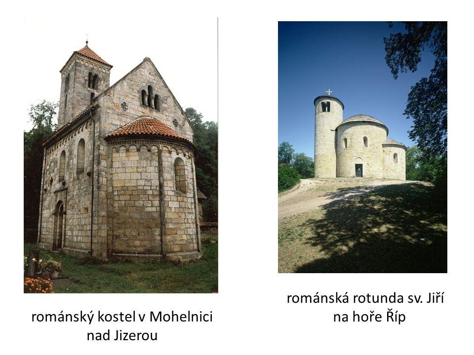 románský kostel v Mohelnici nad Jizerou románská rotunda sv. Jiří na hoře Říp