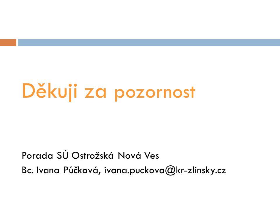 Děkuji za pozornost Porada SÚ Ostrožská Nová Ves Bc. Ivana Půčková, ivana.puckova@kr-zlinsky.cz
