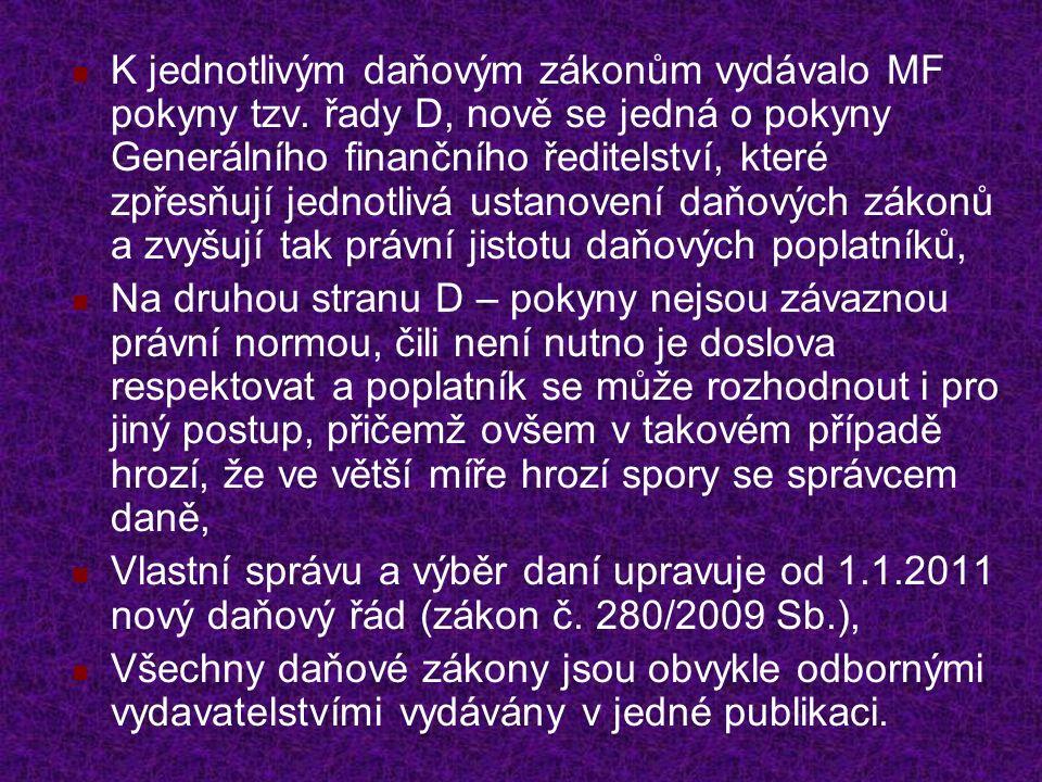 Další užitečné zákony Zákon č.