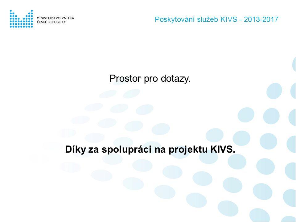 Prostor pro dotazy. Díky za spolupráci na projektu KIVS. Poskytování služeb KIVS - 2013-2017