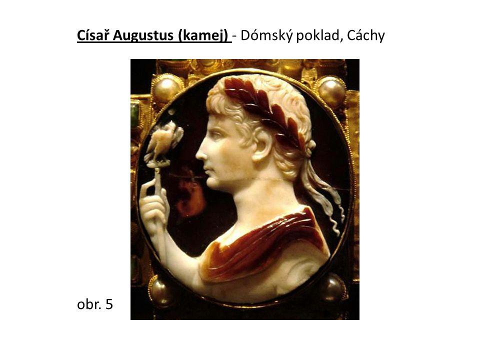 Císař Augustus (kamej) - Dómský poklad, Cáchy obr. 5