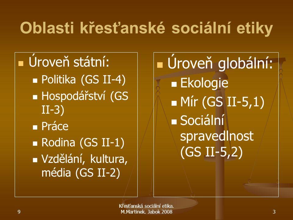 9 Křesťanská sociální etika.M.Martinek. Jabok 200814 Pracovní právo ČR Zákon č.