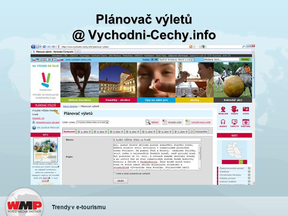 Plánovač výletů @ Vychodni-Cechy.info Trendy v e-tourismu