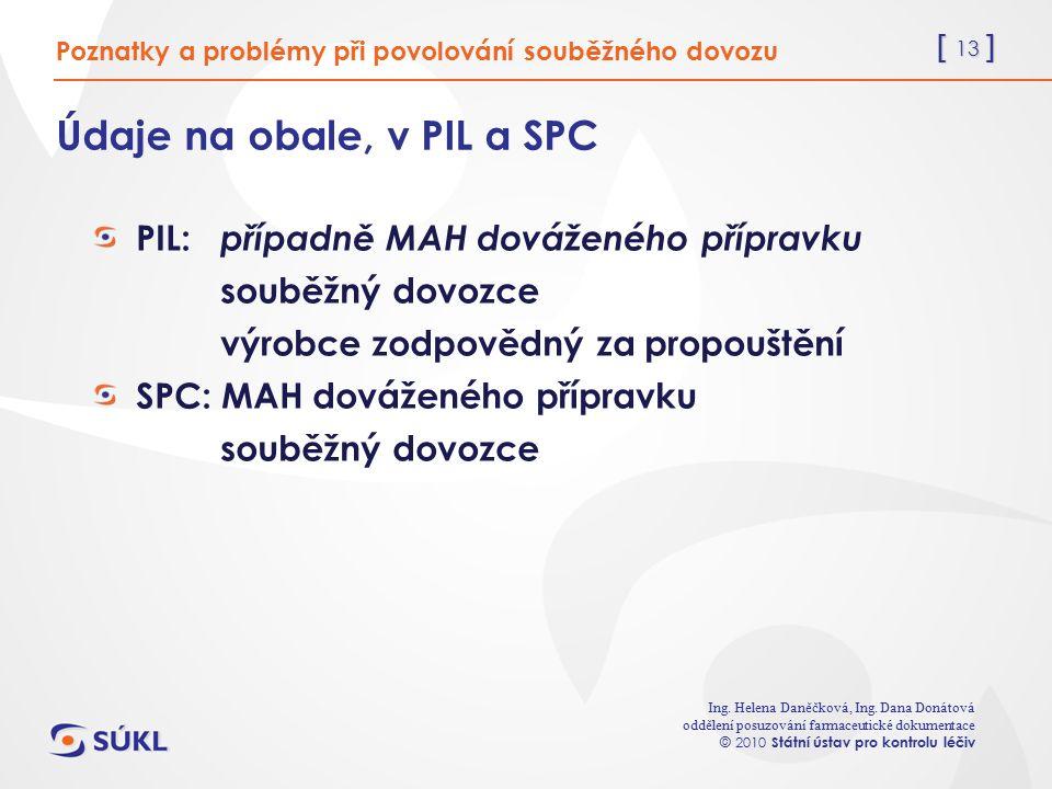 [ 13 ] Ing. Helena Daněčková, Ing.