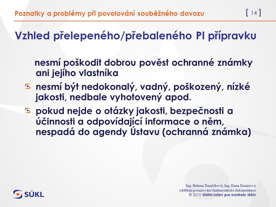 [ 14 ] Ing. Helena Daněčková, Ing.