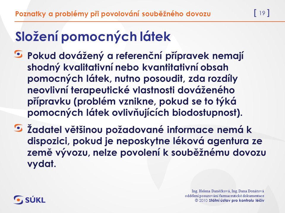 [ 19 ] Ing. Helena Daněčková, Ing.