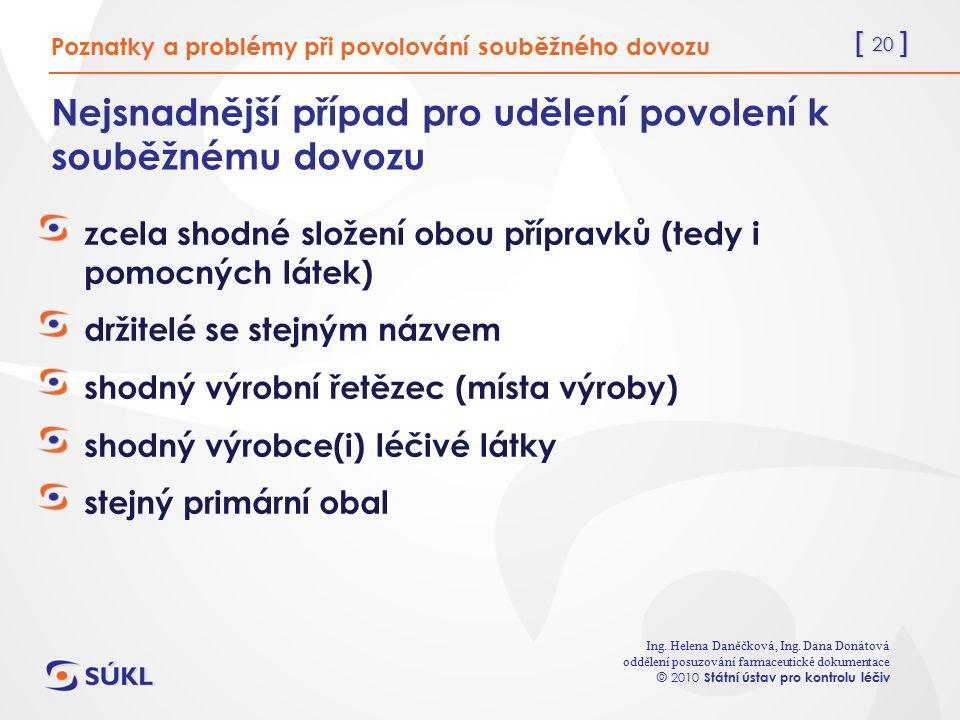 [ 20 ] Ing. Helena Daněčková, Ing.